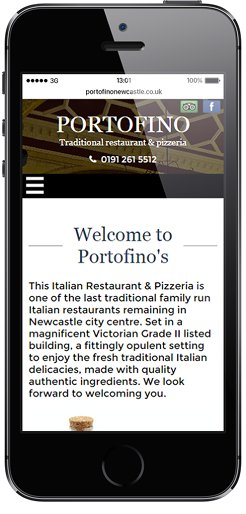 POrtofino Mobile friendly website design
