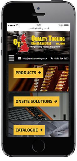 QualityTooling Mobile friendly website design