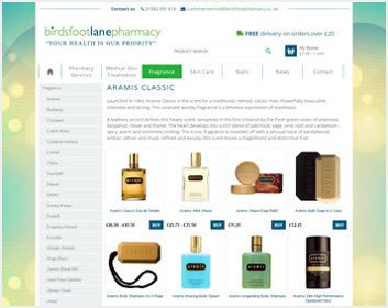 Birdsfoot Lane Pharmacy Product page