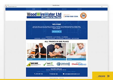 wood wire water brochure website