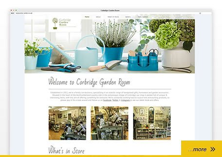 corbridge garden room - web design