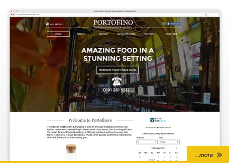 Portofino restaurant website