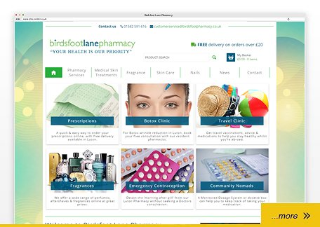 Birdsfoot Lane Pharmacy website